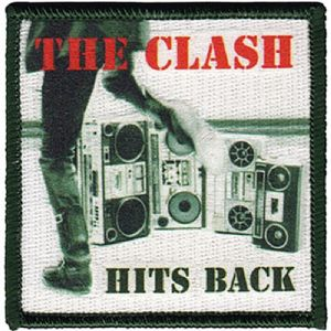 The Clash Hits Back steel fridge magnet    (cv)